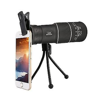 Monoculars portable 16 * 52 hd monocular with cellphone clip tripod