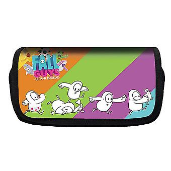Jelly Bean Fall Guys Double Flap Pencil Case Polyester Children's Pencil Case(Couleur-8)