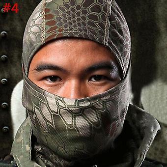 (#4) מסיכת הסוואה טקטית ציד Balaclava צבא צבא מלא פנים צלף כובע