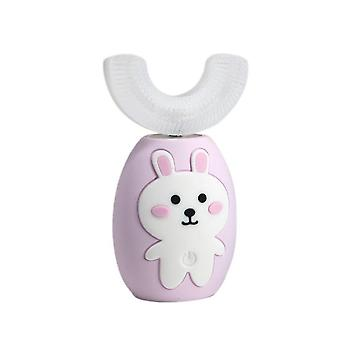USB Children U-shaped Electric Toothbrush For 2-8 years old(Pink)