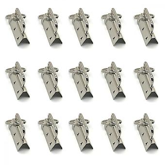 Key Chain Fob Hardware With Ring, 15 Pcs Silver Clip Suitable For All Kinds Of Belts, Suitcases, Hand-woven Belts