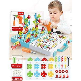 Puzzle di dadi a vite per trapano per bambini