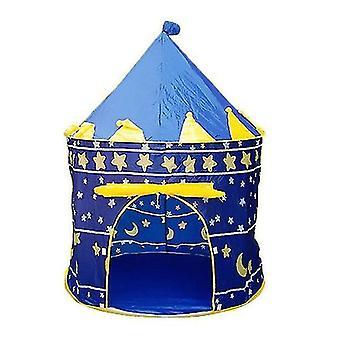 المحمولة للطي الأزرق لعب خيمة الأطفال الأطفال القلعة كوبي لعب البيت الأزرق