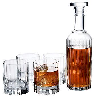 Luigi Bormioli, Karaff och 4x Whiskyglas - Bach