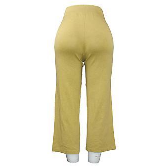 MarlaWynne Women's Pants Cropped Pull On Green 655750
