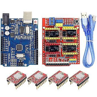 Cnc Schild Expansion Board -v3.0 + uno R3 mit Usb für Arduino