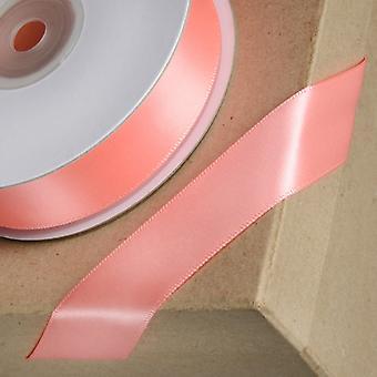 25m Laks Pink 15mm Bred Satin Bånd til Håndværk