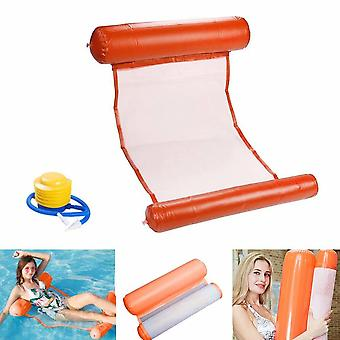 Summer Inflatable Floating Bed Floats On Water, Safe, Comfortable And Durable (blue)