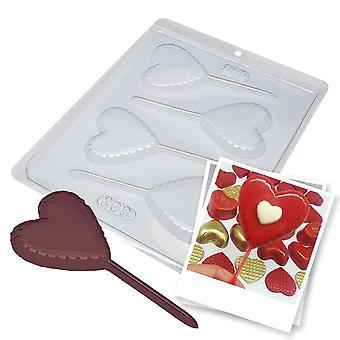BWB 263 Lollipop Love Mold för varm choklad enkel 4-hålsform