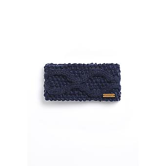Ellor Eco Chunky Cable Knit Diadema Navy