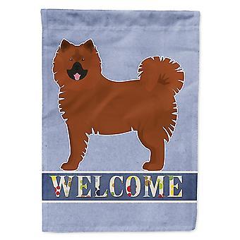 Flags windsocks carolines treasures ck3646gf eurasier or eurasian dog welcome flag garden size