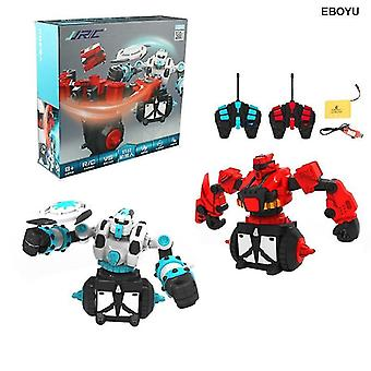Robotic toys vs07 rc battle robot remote control battle robots 2pcs robots included|fighting robot red and white