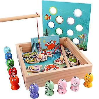 Fishing toys children wooden toys magnetic games fishing toy game kids funny boys girl christmas gifts|fishing toys