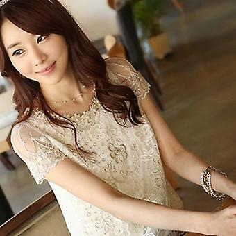 Beautiful Simulated 12 Pearl Beads Golden/ Silver Plating Necklace For Women