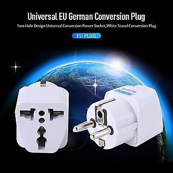 Eu Deutsch Konvertierung Stecker Adapter 10a Universal Europäisches Deutschland Australien Chinesische Steckdose Weiß Reise Umbau Stecker