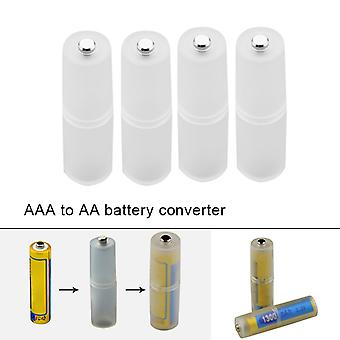 4pcs Aaa To Aa Taille Batterie Convertisseur Adaptateur Batteries Support Durable Case Switcher