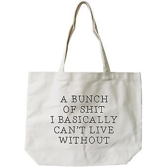Damen Canvas Bag - lustig kann nicht Leben ohne natürliche Canvas Tote Bag