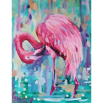 Flamingo na Natural 1 Poster Print by Lisa Colberg