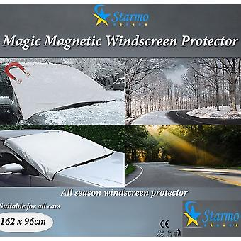 2 X Starmo Windscreen Cover Magnetic Car Windshield Protect From Sun, Ice, Frost & Snow All Weather Shield Screen Cover