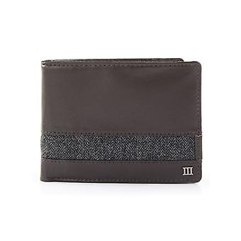 Tresanti Mens Italian Leather Wallet With Herringbone Trim