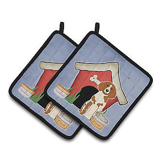Dog House Collection Brittany Spaniel Pair of Pot Holders