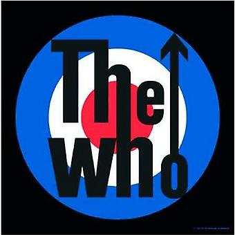 The Who Coaster Target band Logo Official 9.5cm x 9.5cm single drink