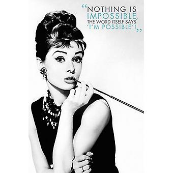 Audrey - Quote Poster Poster Print