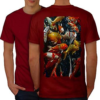 Sea Fish Nature Animal Men RedT-shirt Back | Wellcoda