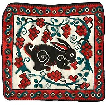 Hare & Grapes Needlepoint Kit