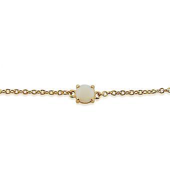 Gemondo Amour Damier 9ct Yellow Gold 0,31 ct Opal klo ställa Cabochon 19cm armband
