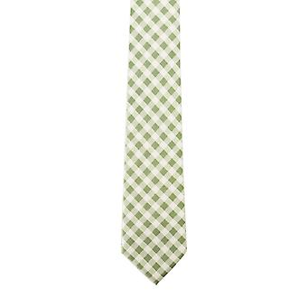 Knightsbridge Green Gingham Silk Tie