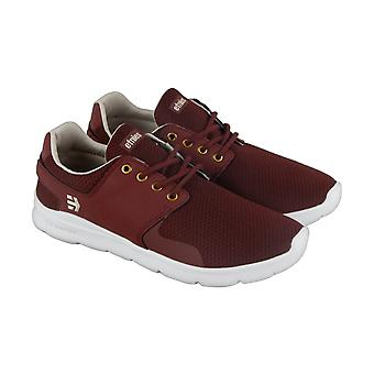Etnies Scout XT  Mens Red Canvas Low Top Athletic Skate Shoes