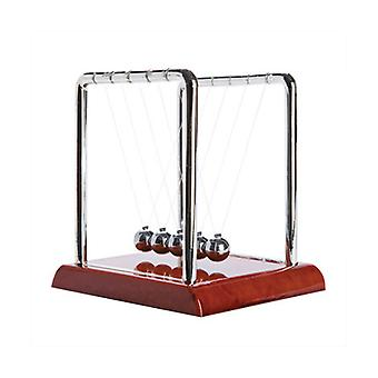 Newton's Cradle w/ Wood Look Base