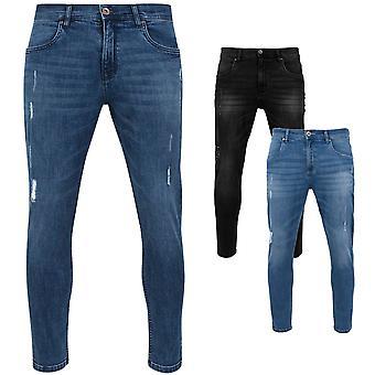 الكلاسيكية الحضرية-نحيل ممزق سروال جينز تمتد
