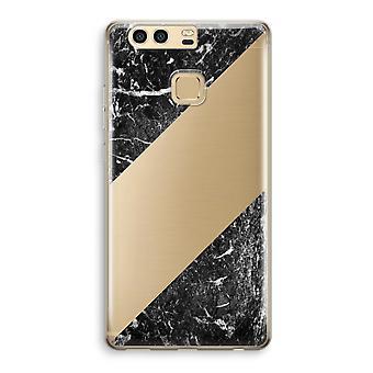Huawei P9 gennemsigtig sag (Soft) - sort marmor