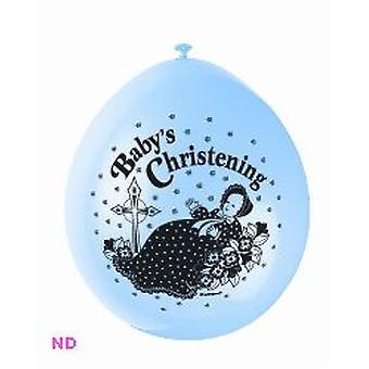 Ballonnen 'BABY doop' 9' Latex ballonnen blauw (10)