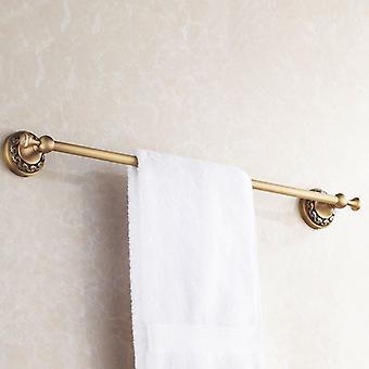 Antique Brass łazienka pojedynczy wieszak 60cm Rail wieszak wiszący stojak