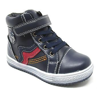 Infant Boys Side Zip Lace Up Faux Fur Lined Casual Ankle Boots Shoes
