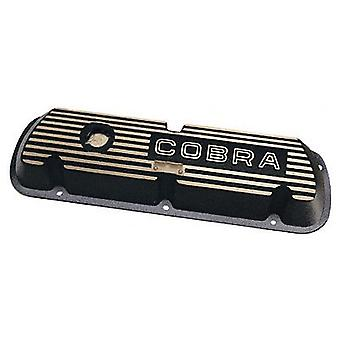Ford Racing M6582F302 Valve Cover, Cobra For 289/302/351 Engines, Black With Cobra Logo