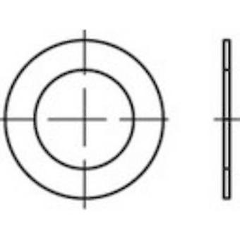 TOOLCRAFT 135448 Shim rings Inside diameter: 10 mm DIN 988 Steel 100 pc(s)