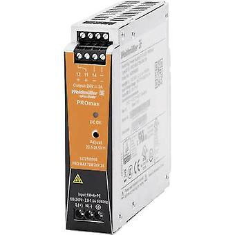 Weidmüller PRO MAX 72W 24V 3A Rail mounted PSU (DIN) 24 V DC 3 A 72 W