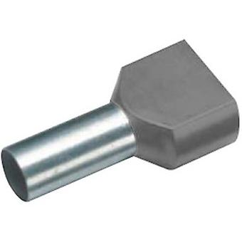 18 2448 Cimco Twin ferrule 2 x 4 mm² x 12 mm Partially insulated Grey 100 pc(s)