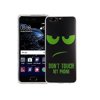 Älä koske minun puhelimen kännykkäkotelo Huawei P10 silikoni