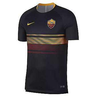 2018-2019 AS Roma Nike Pre Match Training Jersey (zwart) - Kids