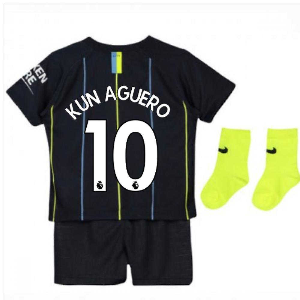 online retailer 1b850 badf0 2018-2019 Man City Away Nike Baby Kit (Kun Aguero 10)