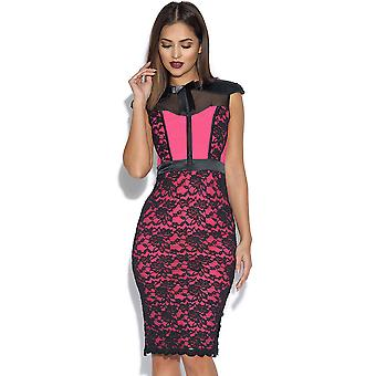 Tempest Pink Hunter Midi Dress with Corset Detail