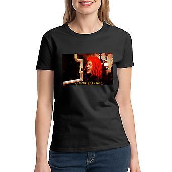T-shirt noir le cinquième élément Chi-cken bonnes femmes