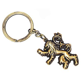 Game Of Thrones Keyring Keychain House Lannister Emblem new Official Sculpted