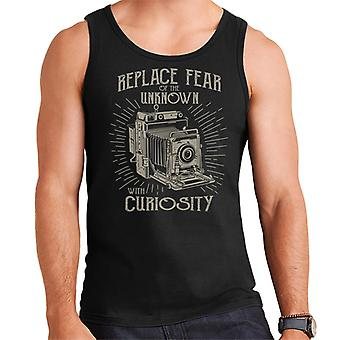 Replace Fear Of The Unknown With Curiosity Retro Camera Men's Vest