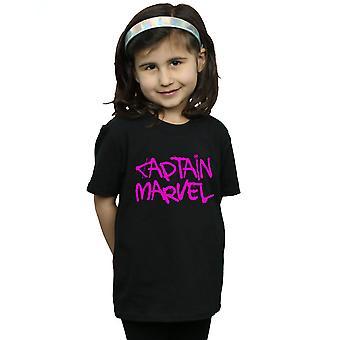 Marvel dziewczyny kapitan Marvel Spray tekst T-Shirt